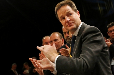 Nick Clegg claims Daily Mail is 'over-flowing with bile' - weeks after article criticising his late father-in-law
