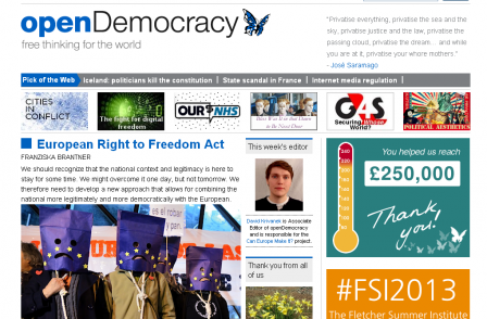Open Democracy editor says future is 'bright' after £250,000 fundraising drive saves site from closure