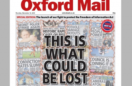 Oxford Mail publishes FoI campaign special edition as Times leader condemns 'misguided' FoI review