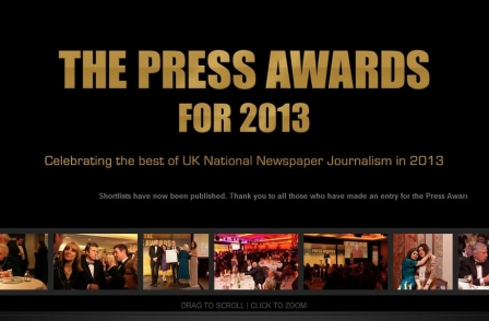 Press Awards for 2013 - live video here from 7.45pm
