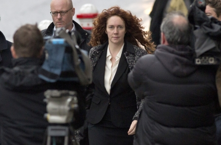 Potential phone-hacking names found in notepad during police raid on Rebekah's flat, court told