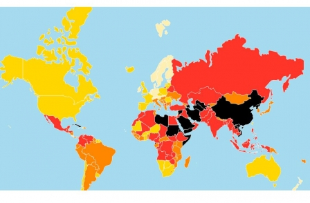 Use of anti-terror legislation against journalists sees UK slip down world press freedom rankings
