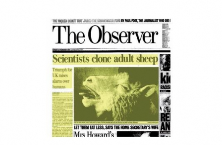 24. British journalism's greatest ever scoops: The Birth of Dolly the Sheep (The Observer, Robin McKie, 1997)