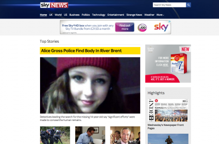 Sky News relaunches website with mobile-friendly design