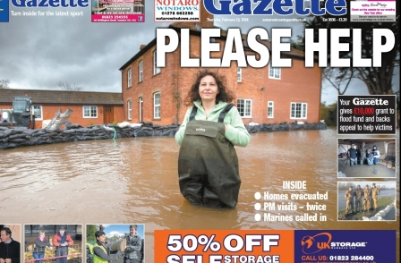 Newsquest owner donates £10,000 to Somerset flood victims