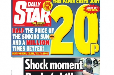 All UK red-top tabloids lost sales by 10 per cent or more year on year last month ahead of Star price cut