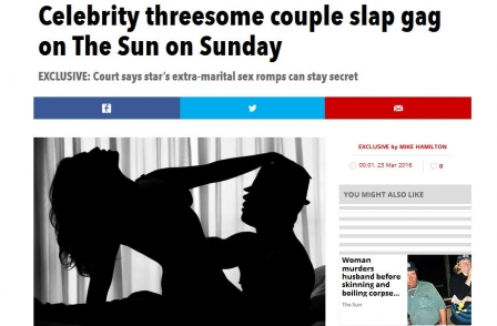 MP questions use of 'state secrecy rules' by celeb to stop Sun reporting of extramarital threesome