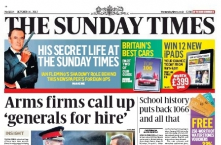 Sunday Times undercover sting could see ex-military chiefs banned from lobbying