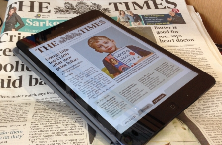 News UK announces first tablet reading figures for the Times and Sunday Times