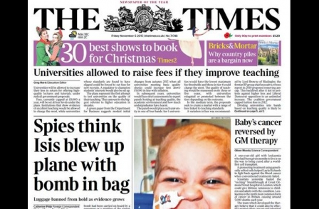 The Times was only national title to grow print circulation in October