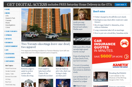 Canada's best-selling daily newspaper is latest to adopt metered online paywall model