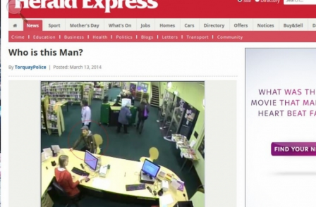Local papers are probably covered for legals in police content posted direct to websites, but...