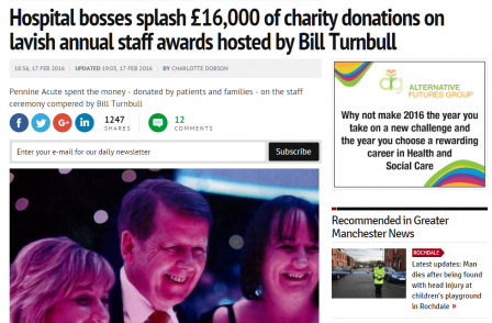 MEN FoI question reveals how BBC's Bill Turnbull pocketed £5.5k for NHS event appearance