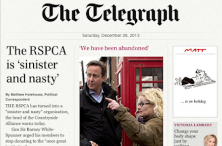 Telegraph attacks David Cameron's call for IPSO Royal Charter recognition