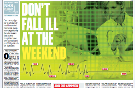 Victory for Sunday Times NHS campaign as consultants will be forced to work weekends