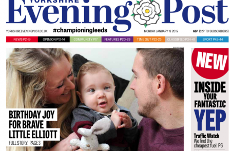 Yorkshire Evening Post unveils 'bright new layout and tone' for Leeds daily