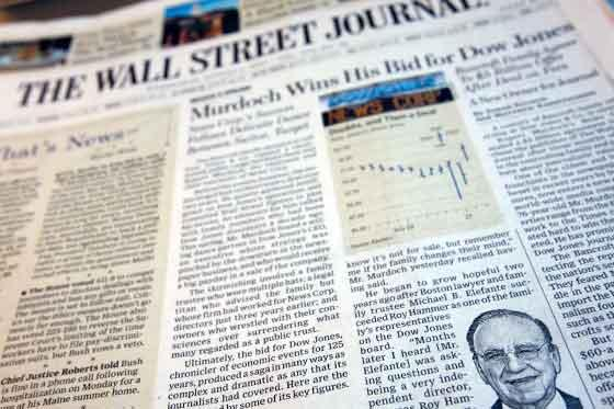 Spoof edition of Wall Street Journal hits US newsstands