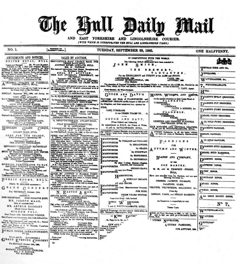 Hull Daily Mail to look back over its 125 year history
