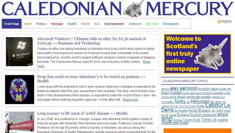 Caledonian Mercury: online launch in Scotland
