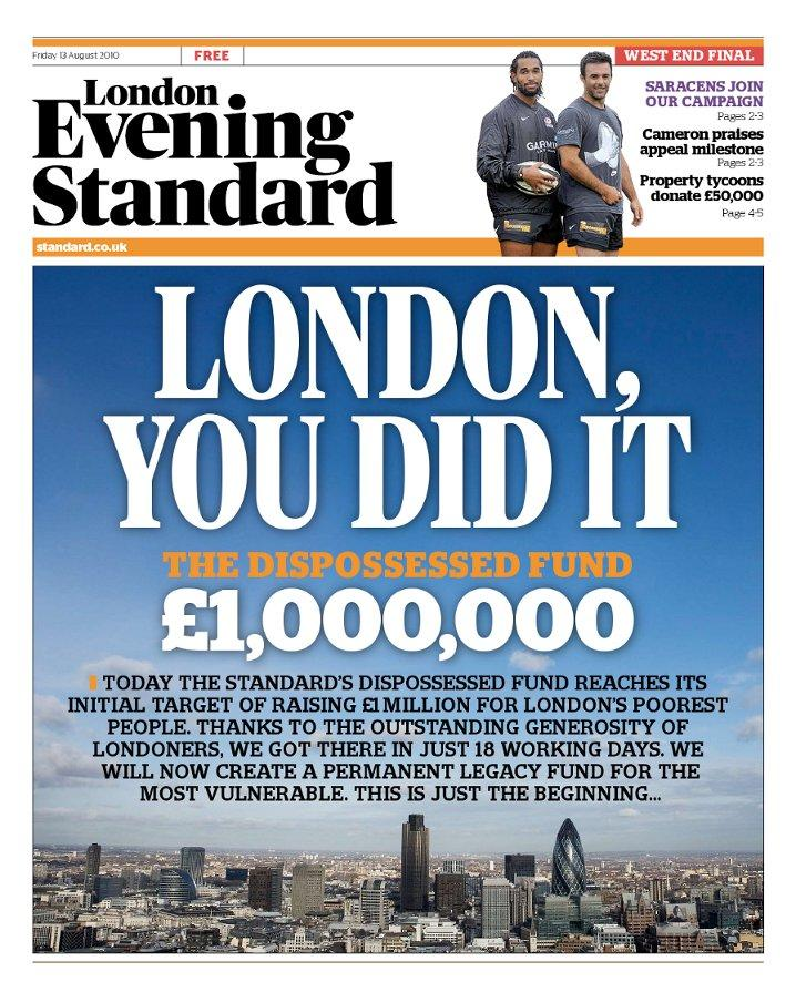 Standard hits £1m campaign target in 18 days