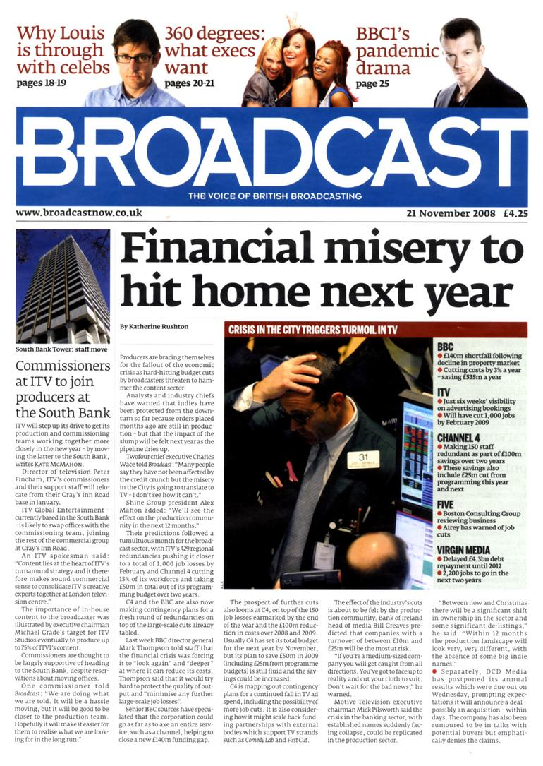 Trade weekly Broadcast shrinks to A4 in latest redesign
