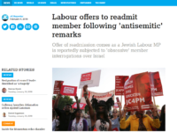 Labour member wins IPSO complaint against Jewish Chronicle after telling newspaper he is not a Holocaust denier