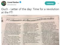 'Time for a revolution' says FT editor Lionel Barber as he publishes letter criticising 'lack of diversity' among paper's columnists