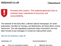 Mail Online hits out at US media start-up for 'egregiously erroneous' trust rating equal to Sputnik and RT