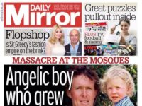 Daily Mirror changes splash headline describing mosque killer as 'angelic boy'