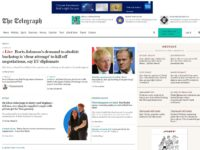 New Telegraph homepage groups top content by theme and draws NYT comparison